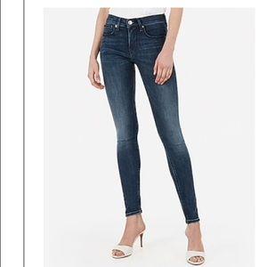 Mid Rise Denim Perfect Medium Wash Leggings